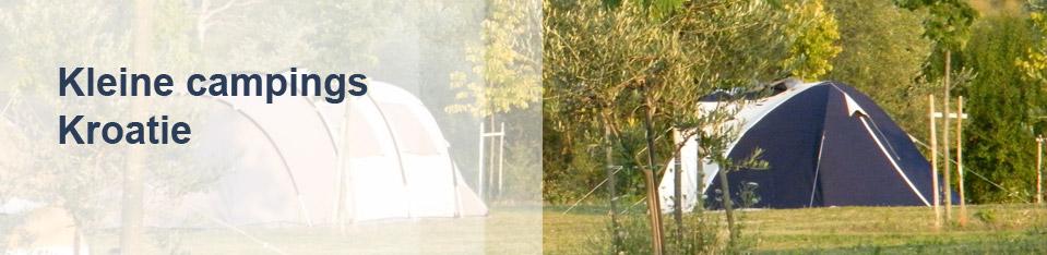 Kleine campings Kroatië