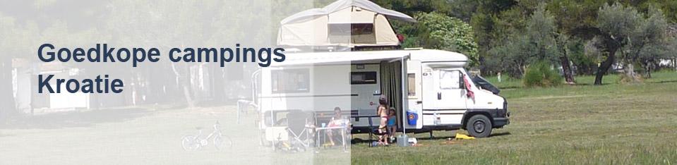 Goedkope campings Kroatië